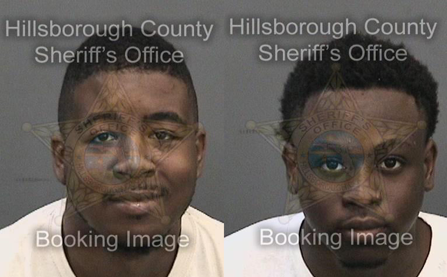 Caribe King Jr., 24, and Surgeo Hollis, 20 were located and arrested on warrants, then transported to the Orient Road Hillsborough County detention center on a charge of Grand Theft. Additional investigations are occurring in separate theft incidents.