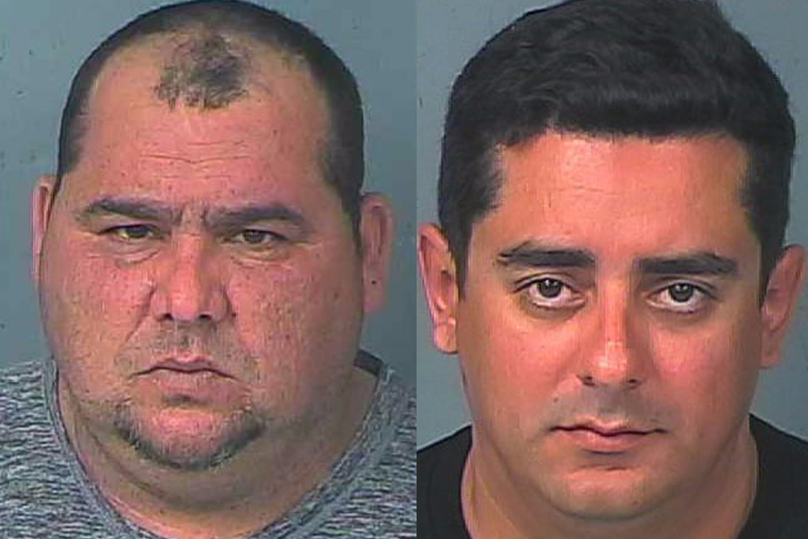 45 year old Mayquel Simon-Hernandez (left) z was charged with trafficking in counterfeit cards, organized fraud, criminal use of personal identification information, possession of personal identification information, and unlawful conveyance of fuel.  36 year old Yoandry Almanza-Lara was charged with trafficking in counterfeit cards, organized fraud, and unlawful conveyance of fuel.