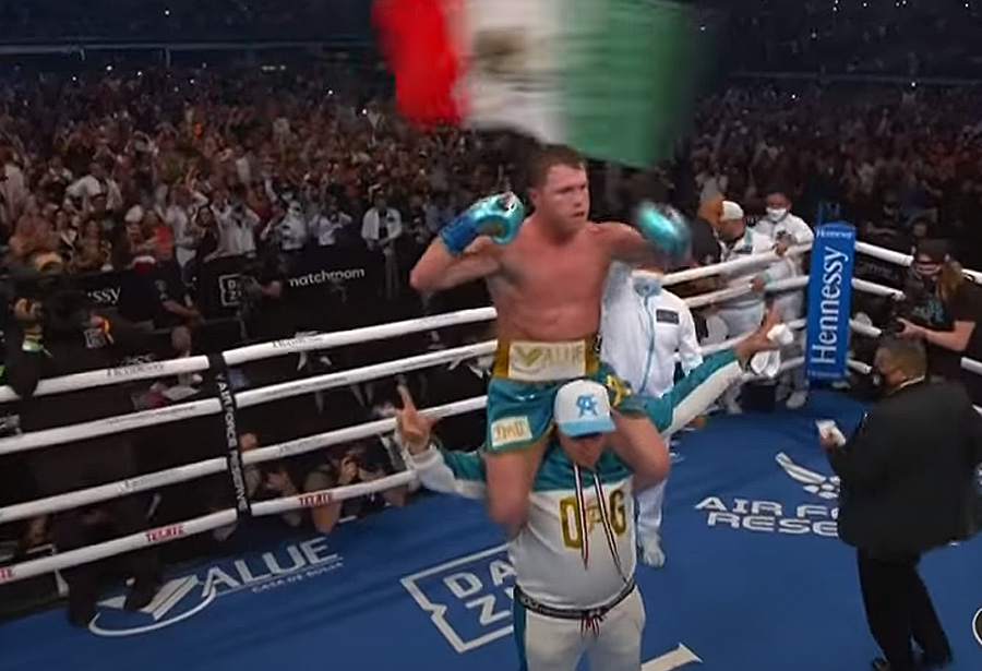 Canelo is a man of action. He spoke like he fought. His every word and punch was designed to land with maximum impact, with maximum efficiency. Canelo chose both well. As the post fight interview concludes, he was asked if he had anything more to say.
