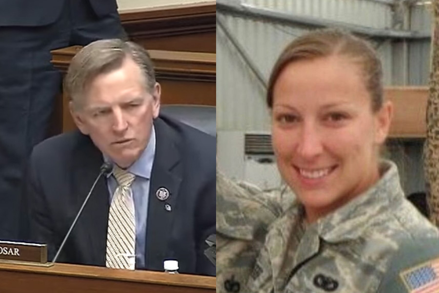 Rep. Paul Gosar (R-AZ) pushes former acting AG Jeffrey Rosen for answers on the death of Ashli Babbitt on Jan. 6 claiming that she was executed.