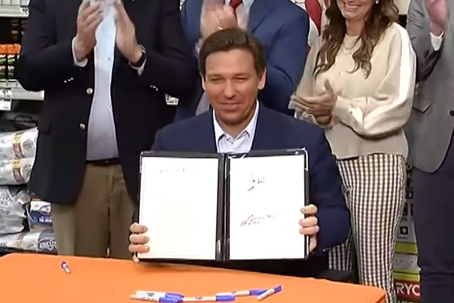 Governor Ron DeSantis in Pensacola on May 21, 2021. File photo from past newscast.