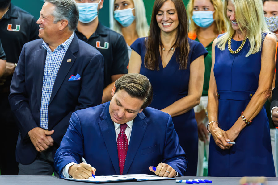 Florida Governor Ron DeSantis signed SB 90, a significant election integrity bill. File photo credit: YES Market Media, Shutterstock.com, licensed.