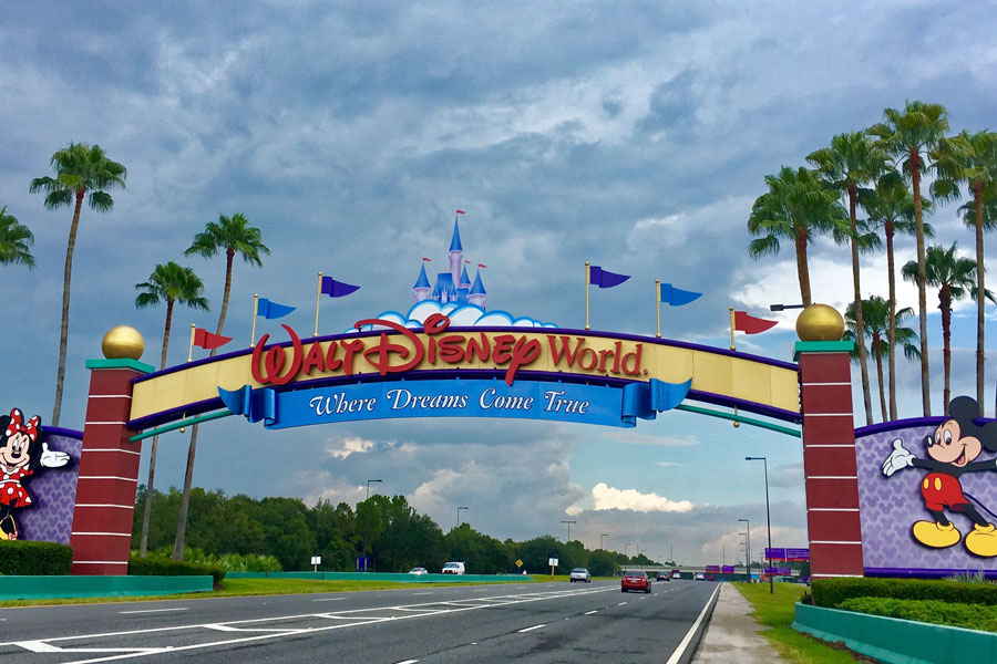 Entrance of Walt Disney World approximately 25 miles from Orlando in Kissimmee, Florida. File photo: Jerome Labouyrie, Shutterstock.com, licensed.