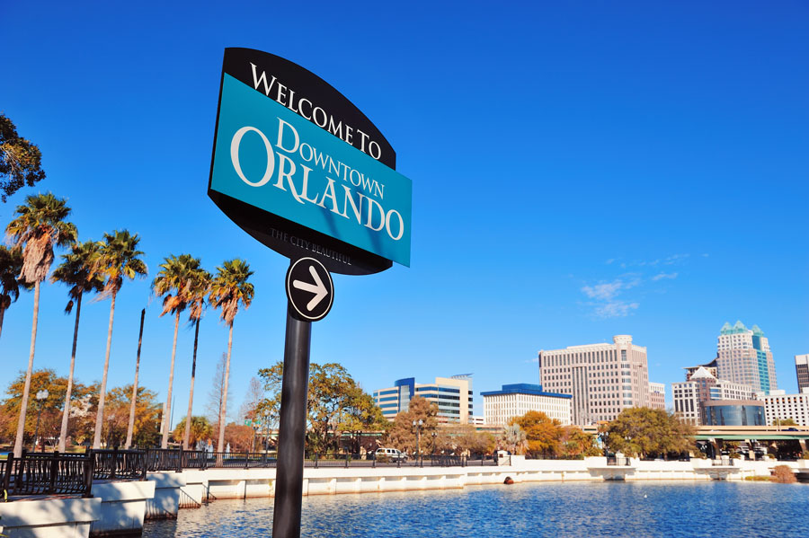 The Central Business District of Orlando, or Downtown Orlando, is home to City Hall, office towers and 19th-century buildings.