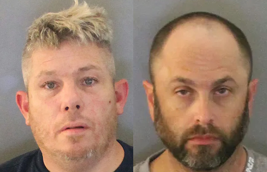 According to authorities, George N. Bankuti (left) was charged with trafficking, possession of a controlled substance, drug paraphernalia, possession of amphetamine, and operating a motor vehicle without a valid license. James W. Haney (right) was charged with trafficking, possession of a controlled substance, drug paraphernalia and possession. Both subjects are being held at the Charlotte County Jail.