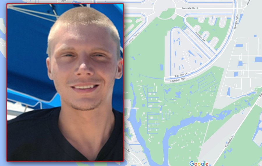 Justin Davis, 26, was last seen Wednesday at approximately 9 pm before leaving on a walk near his mother's home located on Bunker Road in Rotonda West. If you have any information on his whereabouts, please contact the Charlotte County Sheriff's Office at 941-639-0013