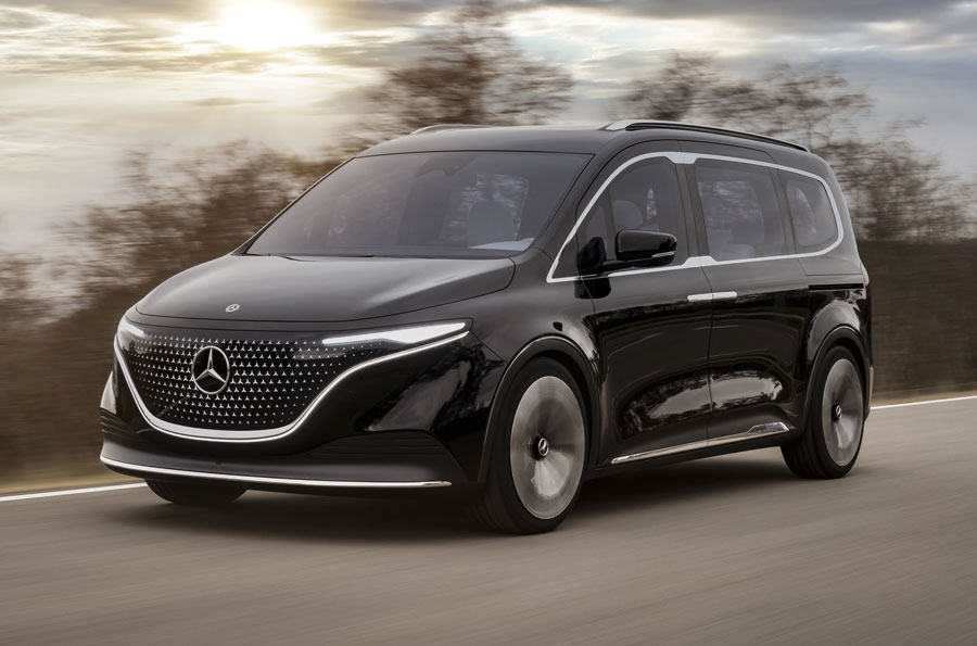 The near-series-production concept vehicle combines ample and versatile space for up to seven occupants and a generous luggage compartment with a Mercedes-typical design and approach to high-class appeal, comfort, functionality, connectivity and safety.