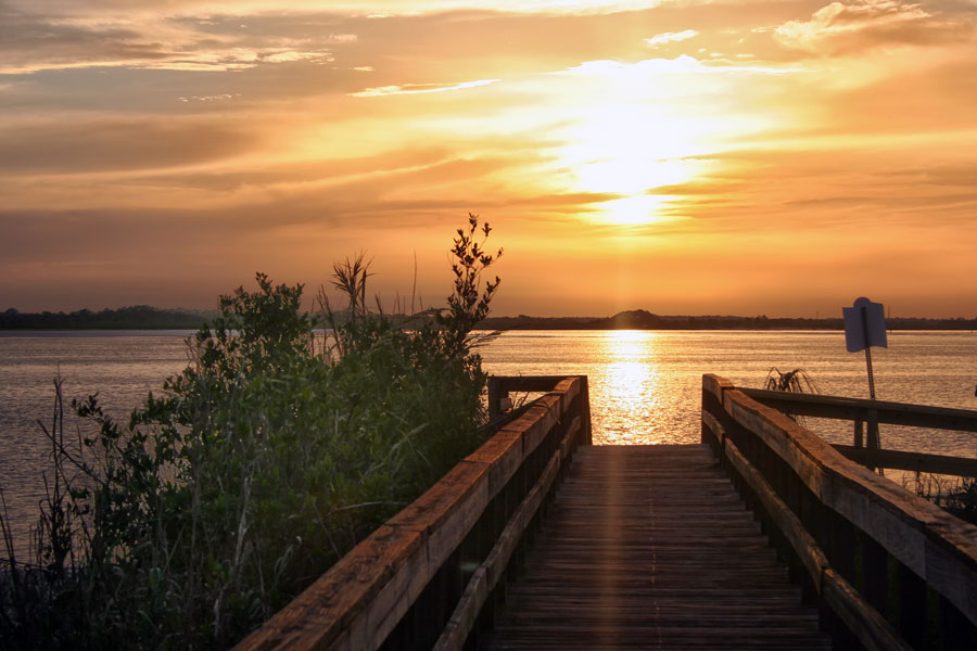 The  boardwalk at Ponce Inlet in New Smyrna Beach Florida. Photo credit ShutterStock.com, licensed.