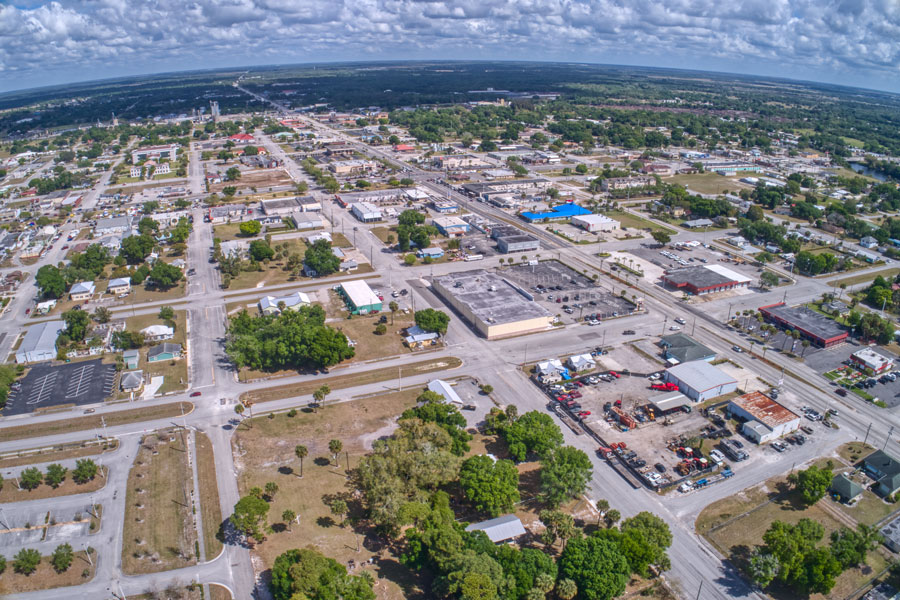 Okeechobee is a small town in the interior region of Florida.