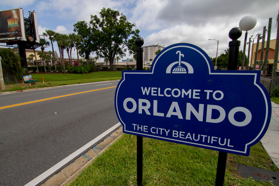 Welcome To Orlando The City Beautiful Sign On The International Drive In Orlando, Florida. File photo: Sibuet Benjamin, Shutterstock.com, licensed.