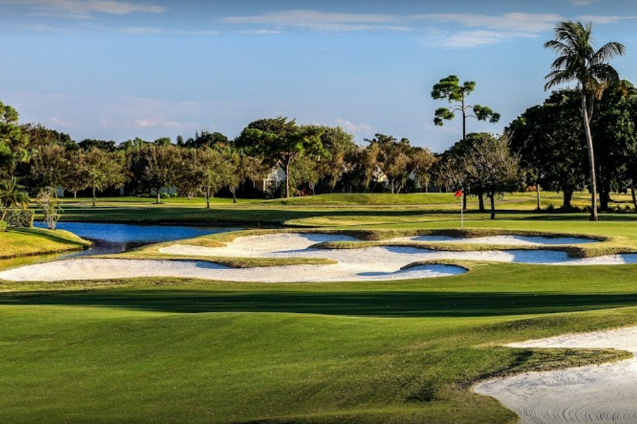 Palm Beach Gardens Golf Course, a challenging course carved out of the beautiful Loxahatchee Nature Preserve.