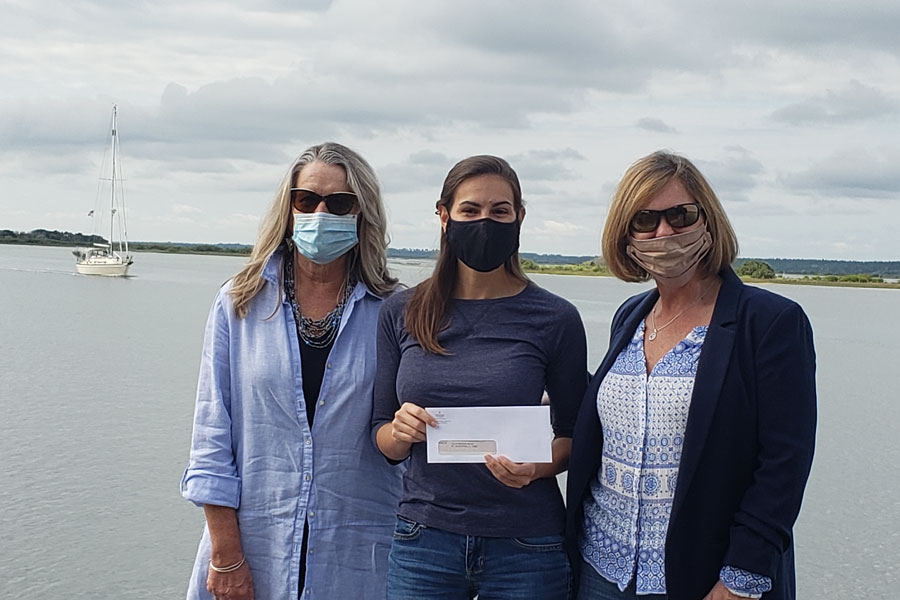 The St. Augustine branch office donated $1,600 to the Matanzas Riverkeeper. From left, Realtor Shelley Trela, Matanzas Riverkeeper Jennifer Lomberk and Broker/Manager Tracy Glochau.