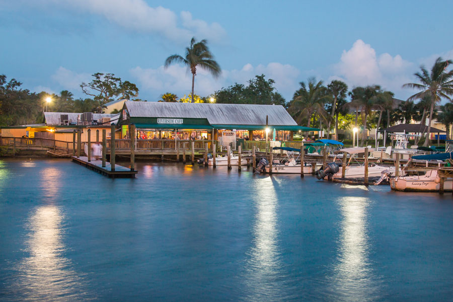 The Riverside Café on the Indian River in Vero Beach, FL at dusk on May 03, 2018. File photo: Robert H Ellis, Shutterstock.com, licensed.
