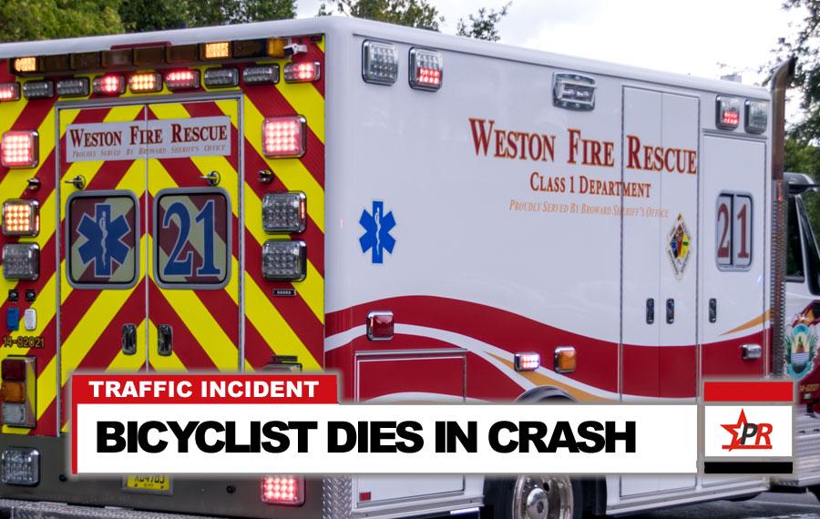 BICYCLIST DIES