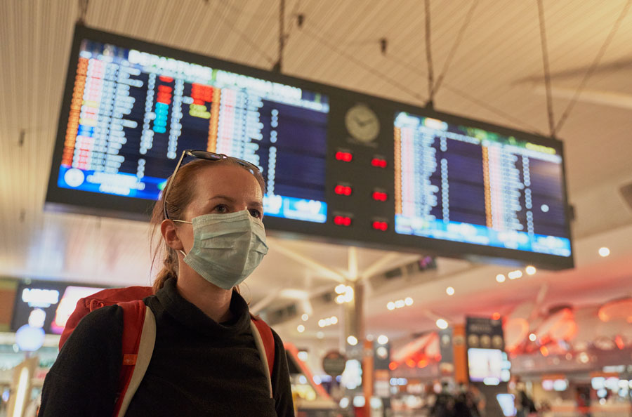 In accordance with a TSA face-mask requirement extension through mid-September, all travelers - even those who are fully vaccinated - must wear masks and practice COVID-safe behavior at all U.S. airports, and aboard commercial aircraft.