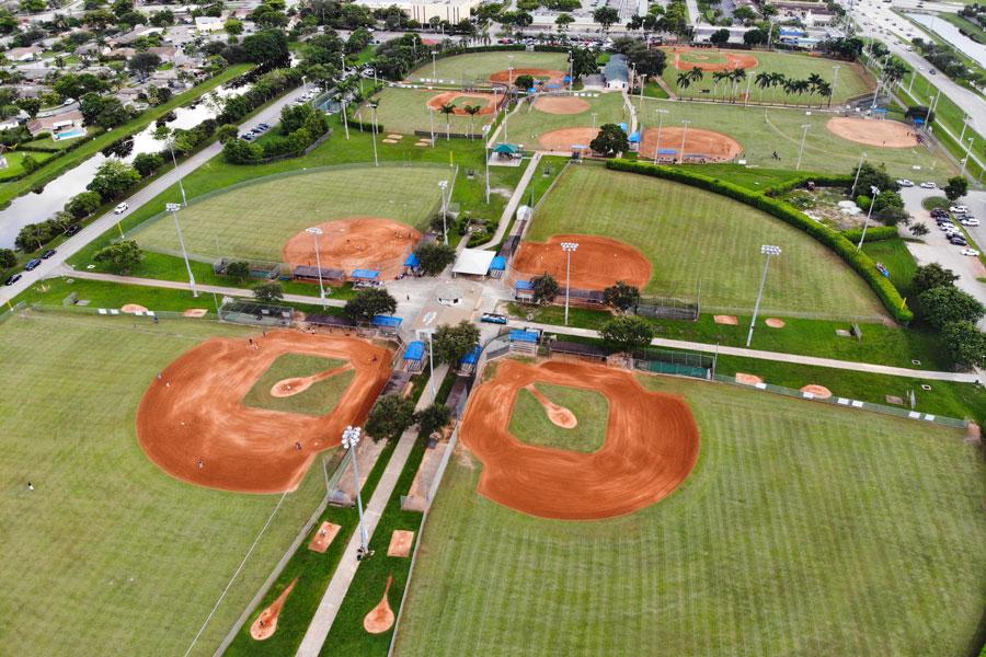 Baseball fields in Pembroke Pines, Florida. Photo credit ShutterStock.com, licensed.