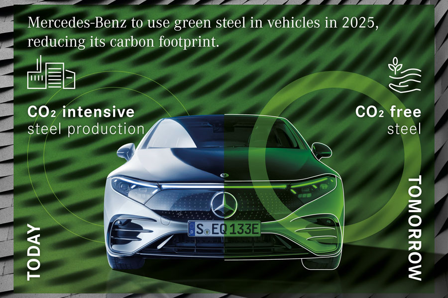 Mercedes-Benz To Use Green Steel In Vehicles In 2025, Reducing Its Carbon Footprint