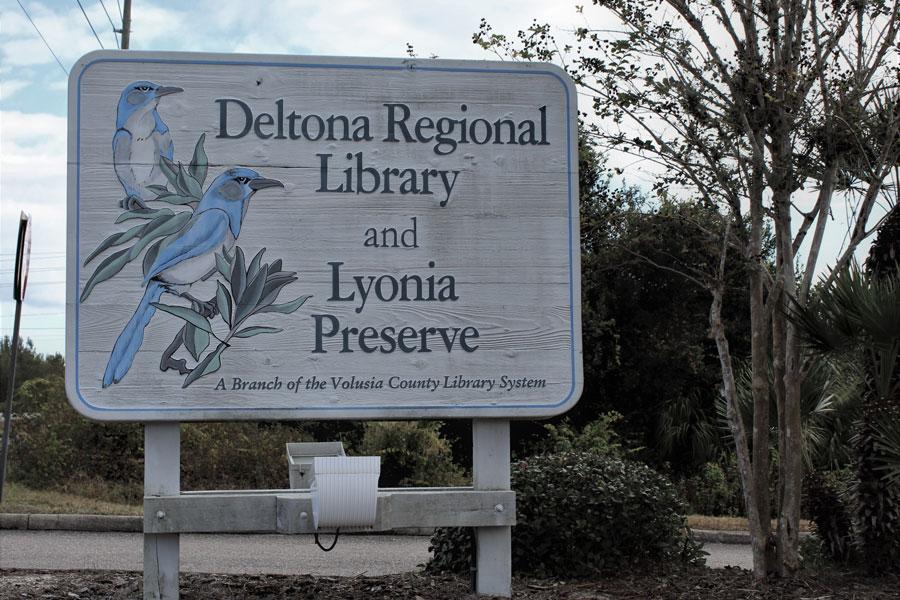 Lyonia Scrub Jay Preserve sign in Deltona, Florida on December 19, 2020. File photo: MyArt4U, Shutterstock.com, licensed.
