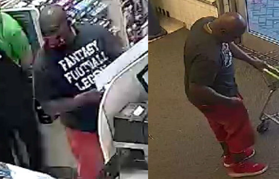 According to authorities, the suspect is wanted for cashing a fraudulent check at Publix in Greenacres on Wednesday, May 26, 2021.