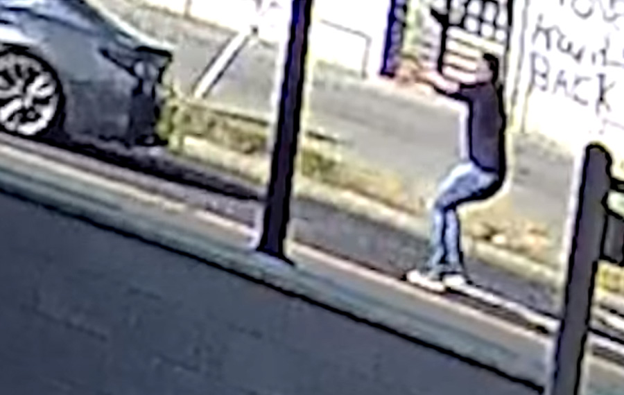 The incident, completely caught on surveillance video, occurred last Wednesday at approximately 5 p.m. in the 1600 block of Kenilworth Avenue, according to police, who have publicly released footage of the incident in an attempt to track down the suspect.