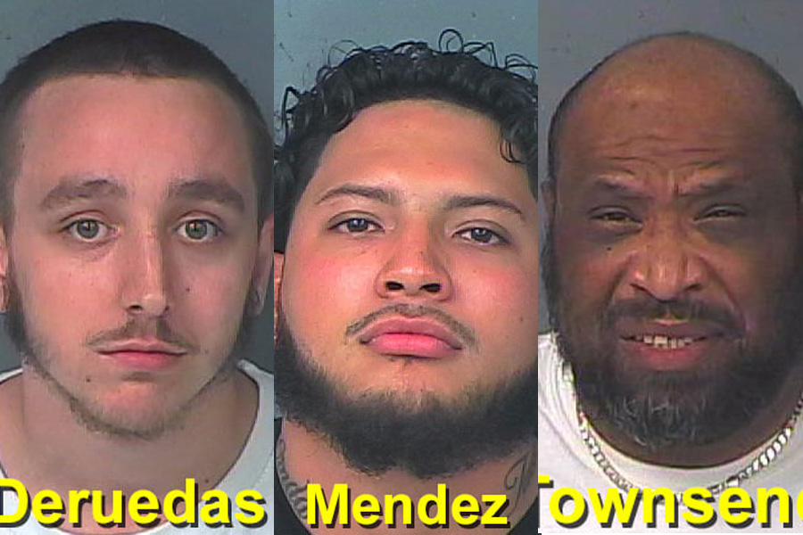Two employees, Thomas Deruedas, 22, and Johnny Mendez, 24, were each charged with Keeping a Gambling House, Florida State Statute 849.01 and Possession of a Slot Machine. Additionally, one patron, Charles Townsend, 51, was charged with possession of a controlled substance, possession of marijuana, introduction of contraband into a detention center, and possession of paraphernalia.