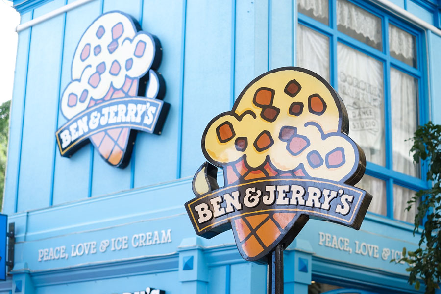 Ben & Jerry's ice cream shop in Movie World's Gold Coast. File photo: Enchanted Fairy, Shutterstock.com, licensed.