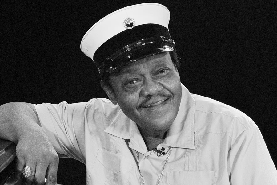Fats Domino photographed in New Orleans in 2007.