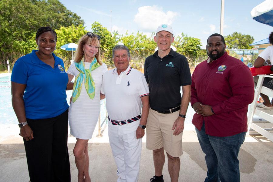 Mayor Felicia Mychele Brunson, City of West Park, Mara and Arthur Benjamin, Mark Caron and Commissioner Brandon Smith.