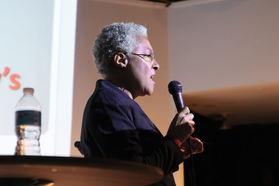 Academic, Patricia Hill Collins presents a lecture on her book