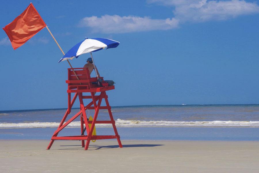 A Lifeguard Beach Chair in Jacksonville Beach Florida, June 2017.
