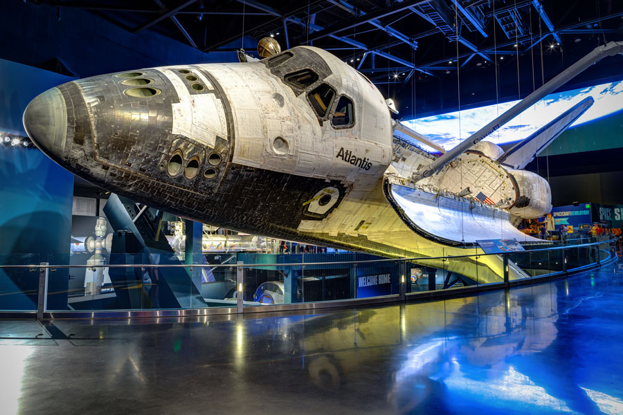 Space Shuttle Atlantis exhibited at the visitor complex of Kennedy Space Center. File photo: Zhukova Valentyna, Shutterstock.com, licensed.