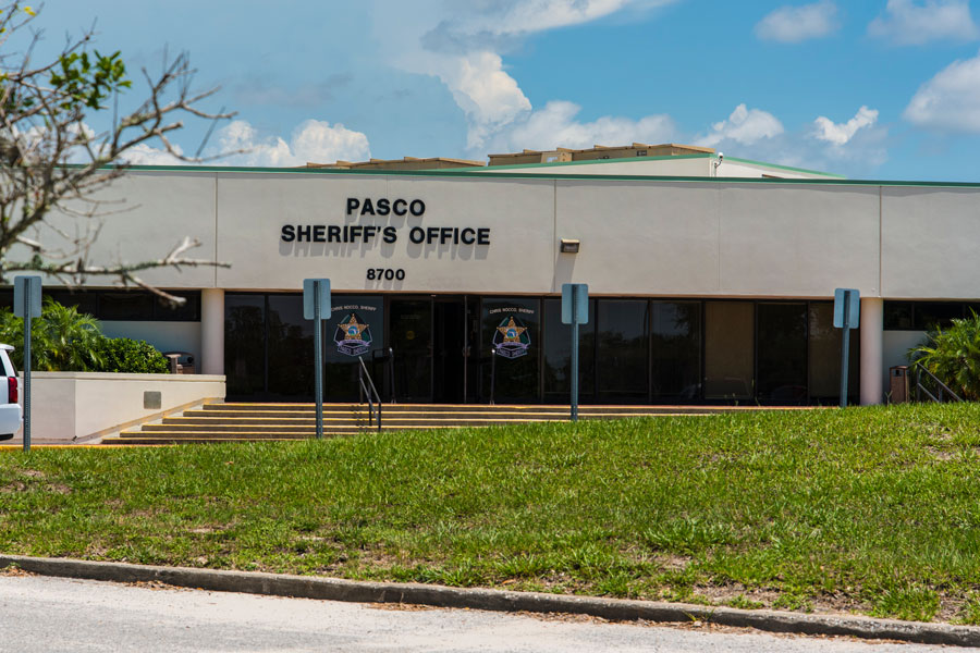The exterior of the Pasco County Sheriffs Office in New Port Richey, FL on July 2, 2019.