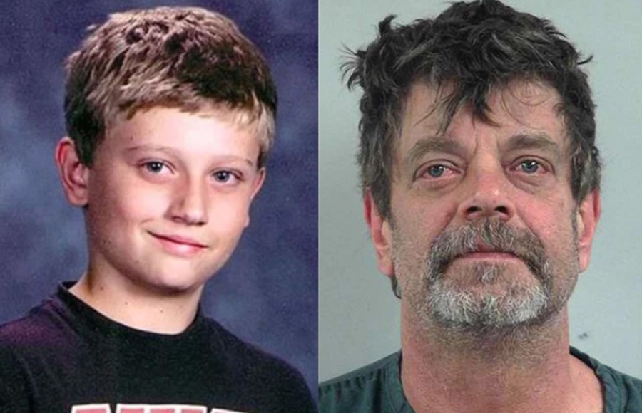 Mark Redwine, 59, is accused of murdering his 13-year-old son Dylan after images triggered a violent rage. Photo:: Splash News