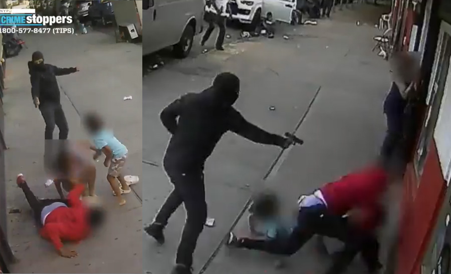 The incident took place Thursday at 1551 Sheridan Avenue in the Bronx; the two children, a 5 year-old boy and his sister, 10, were walking near their home when a man who was seemingly being chased barrels into the children, knocking them over.