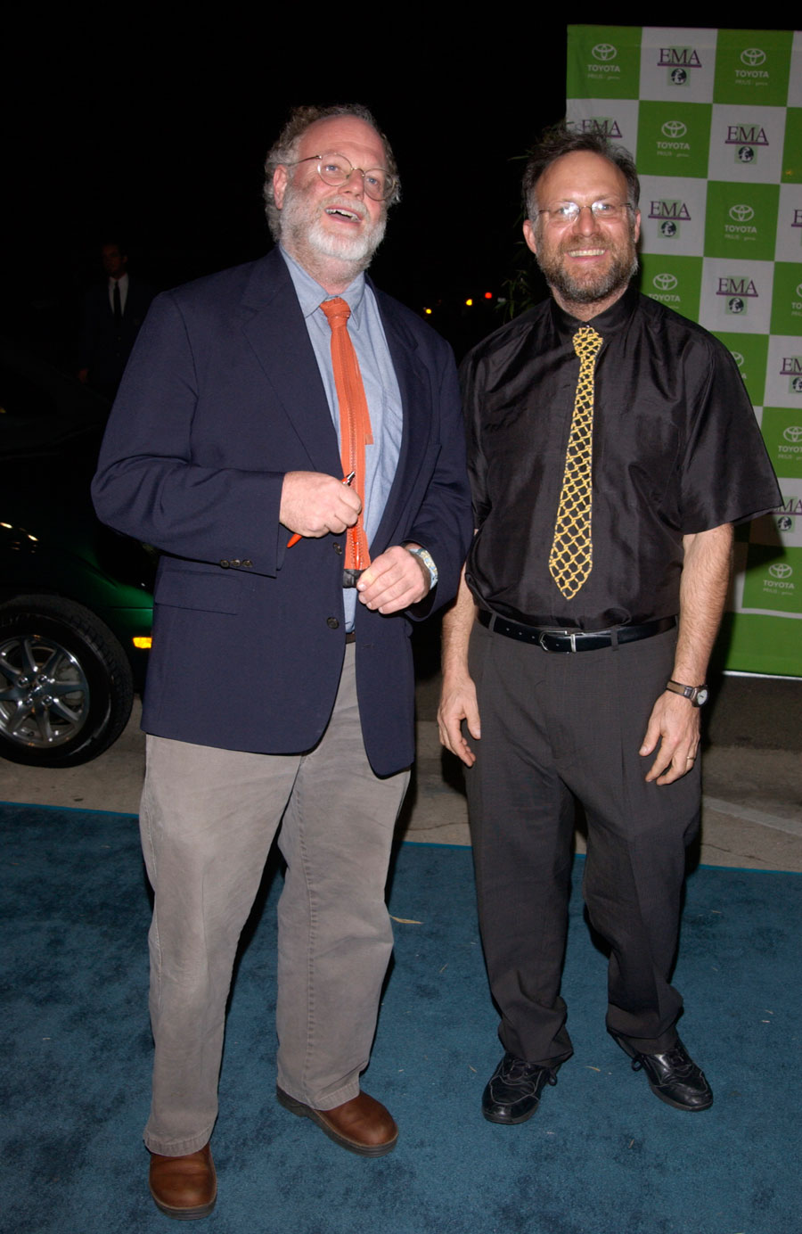 Ice cream makers BEN COHEN (right) & JERRY GREENFIELD at the 12th Annual Environmental Media Awards in Los Angeles. November 2002. File photo: Paul Smith / Feature Flash, Shutterstock.com, licensed.