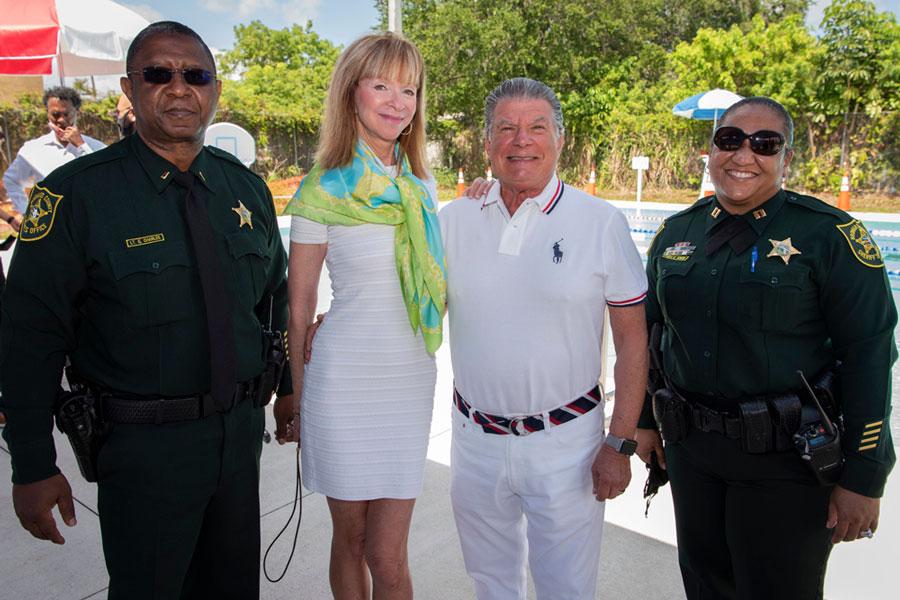Lt. Gerard Charles, Broward County Sheriff's Office, Arthur and Mara Benjamin and Captain Stephanie J. Coker, Broward County Sheriff's Office.
