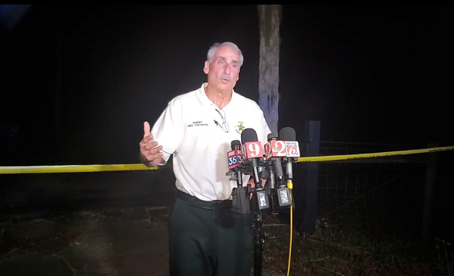 Sheriff Mike Chitwood told reporters at an 11:30 p.m. news conference outside the property's gate that the sustained, armed assault on law enforcement from two children was something I've never seen in 35 years in policing.