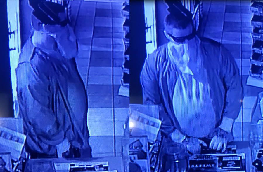 """The suspect is described as 5'8"""" to 5'10"""" tall, weighing 250-275 pounds, wearing a black shirt, dark jacked and blue jeans. He also had tattoos on both hands and his neck. Detectives are asking the public to take a good look at the video surveillance provided of the suspect."""