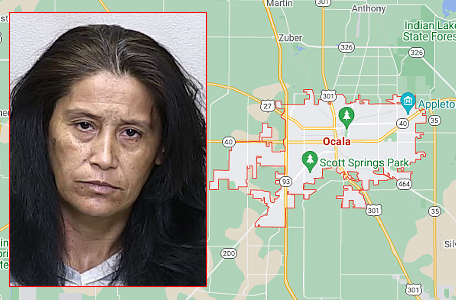 Alma Delia Duran, 52, was charged with making a false report of a crime. She was  transported to the Marion County Jail, where she was held on a $1000 bond. Detectives do not believe there is any credible evidence to support any crime occurred.
