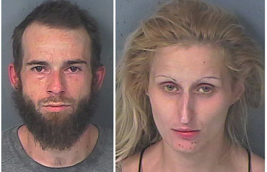 According to authorities, Joseph Blahous, 26, and Nicole Cawthron, 30 are responsible for numerous retail thefts and one structure burglary reported throughout Hernando County , over the course of a week.