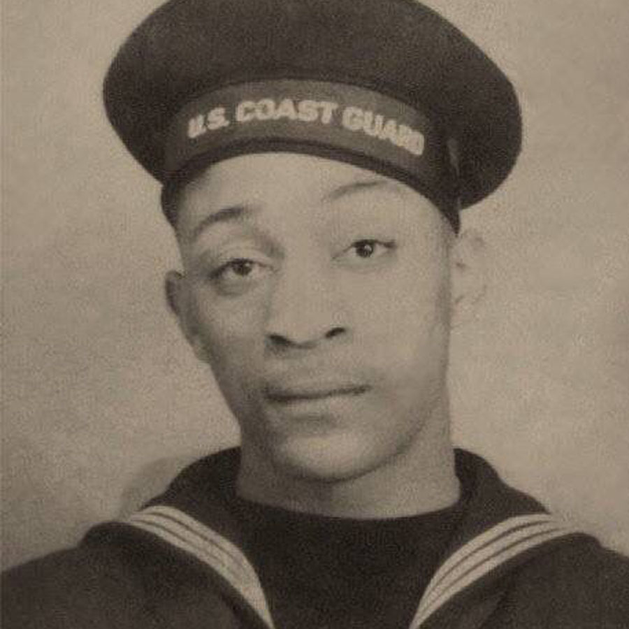Charles Walter David Jr. (June 20, 1917 - March 29, 1943), who died of pneumonia after rescuing other sailors from the frigid North Atlantic. Photo: Courtesy of the US Veterans Administration Archives