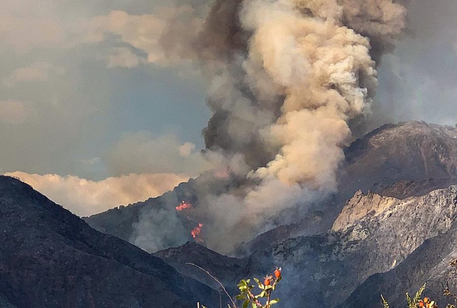View of the El Dorado Fire from El Dorado Ranch Park on Saturday, September 5, 2020.