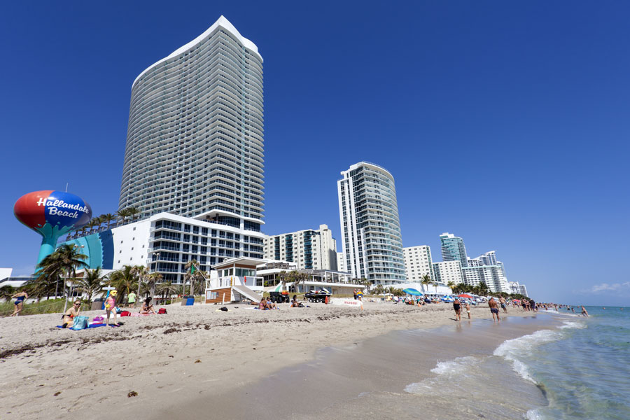 A beautiful sand beach in Hallandale Beach, Florida, on March 11, 2017. File photo: Philip Lange, Shutterstock.com, licensed.