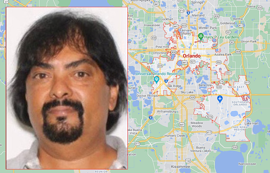 Detectives say Harry Sukhraj, 56, may be in the Orlando area driving a gold Ford E-150 van with tag number EMBK18. The van has a rusted trailer hitch and is missing a front passenger hubcap. If you see this van or suspect, do not approach but call 911.