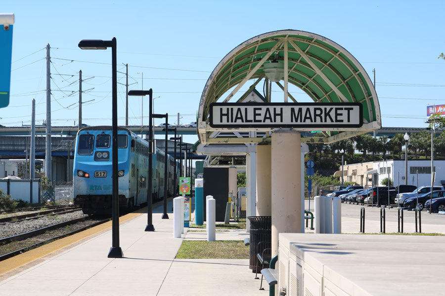 The Hialeah Market Train Station in Hialeah, Florida, on March 13, 2018. File photo: Tome 213, Shutterstock.com, licensed.