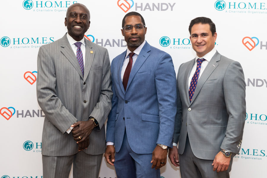 Dan Young, HANDY Board Chair; Kirk Brown, HANDY CEO; and Phil DeBiasi, HANDY Board Member and incoming Board Chair.