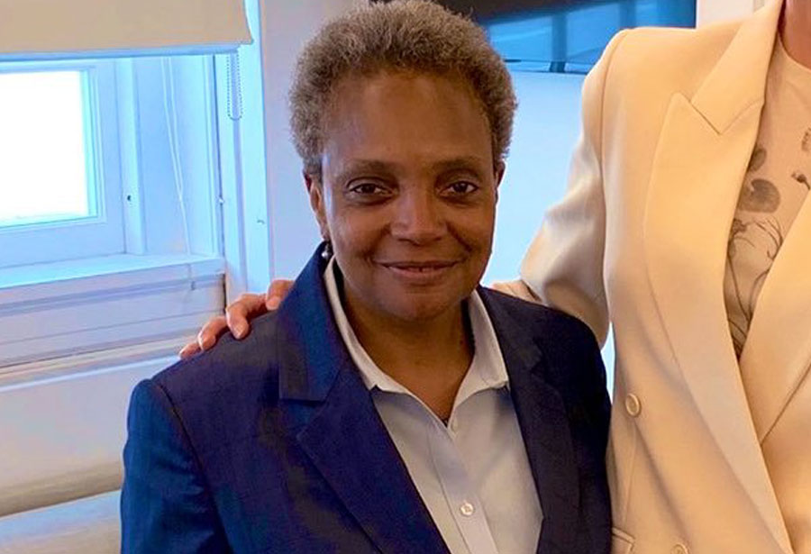 Then Chicago Mayor-elect Lori Lightfoot with Ivanka Trump, Senior Advisor to the President on May 7, 2019 in Washington D.C. at the White House.