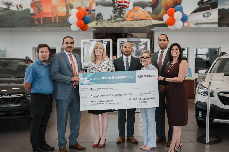 North Fort Lauderdale Subaru Selects Dan Marino Foundation as Hometown Charity During Share the Love Campaign