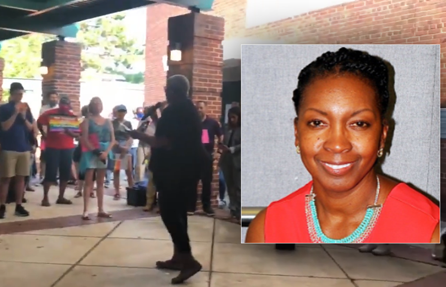 """The Virginia PTA said Saturday that one of its officials, Michelle Leete, had resigned after she was filmed at a rally saying, """"Let them die,"""" during a speech interpreted as a denouncement of opponents of critical race theory."""