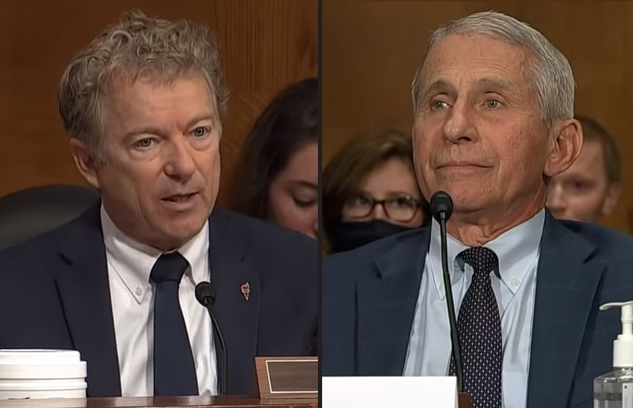 A heated exchange between Senator Rand Paul and Dr. Fauci and the White House's messaging on vaccinations.